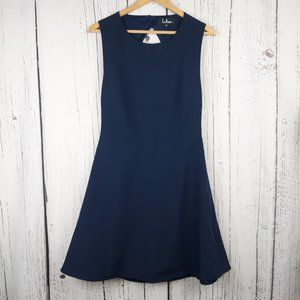 Lulu's Flirt & Flair Blue Backless Dress Large
